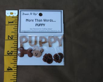 Puppy Embellishment for Scrapbook, Card Making and other paper crafts.
