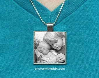 "Custom Photo Pendant w/ 18"" ball chain necklace"