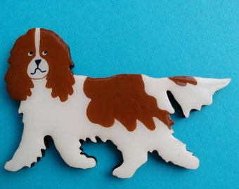 Cavalier King Charles Pin, Magnet or Ornament -Color Choice -Free Shipping -Hand Painted