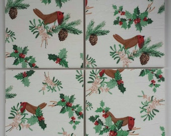 Ceramic Coasters in Laura Ashley Robin and Holly