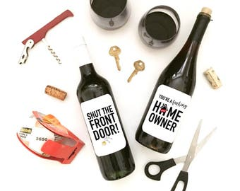New Home Wine Labels! 2 PACK
