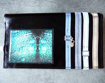 Checkbook Blue Metal. Original material