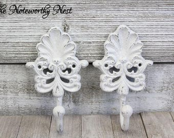 ANY COLOR Wall hook / bedroom hook / key hook // towel hook // bathroom hook // bedroom hook / white decor / white hook / Farmhouse Hook