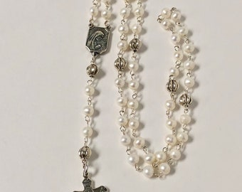 White Small Rosary