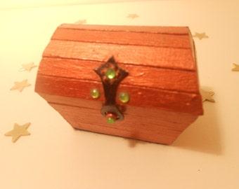 Miniature Treasure Chest Trinket Box - Bronze