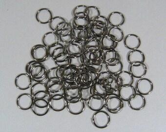 10mm Shiny Black Jump Rings