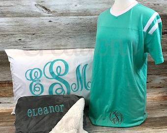 Monogram Nightgown, Monogram Pajamas, Monogram Night Shirt, Monogram Night Gown, Monogram Nightshirts, Nightgown, Nightshirt, Pajamas