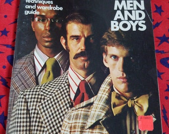 Sewing for Men and Boys ** vintage 1970s how-to sewing book from Simplicity