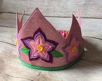 Woodland Fairy Crown, Flower Crown, Felt Crown