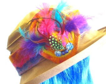Sunrise Sky Hatband Headband with detachable Brooch