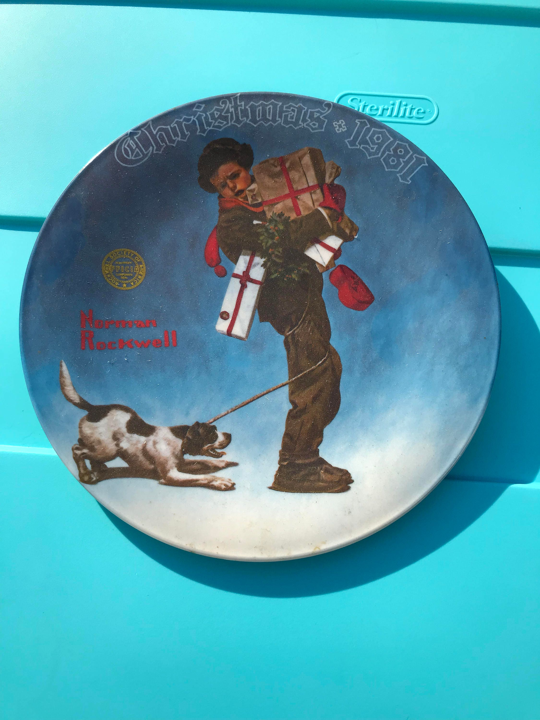 Norman Rockwell Christmas Plate 1981