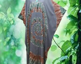Handmade Tie dye Sprial Artwork Casual Beach Kaftan Dress