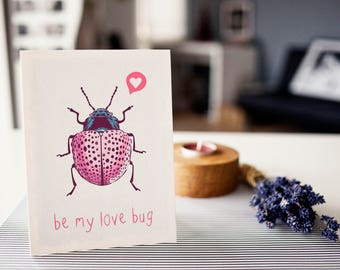 Postcard: be my love bug