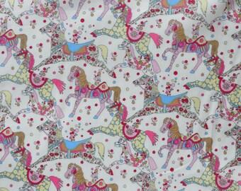 Liberty fabric Tana Lawn My Little Pace scrap - 5'' x 10''  -Light pink/blue