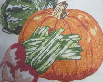 "KIT, PIK, Creative Stitchery, ""Autumn Harvest"", Crewel Embroidery, Creative Stitchery for Framing, Size: 8"" x 10"", Kit no. 77075, Vintage"