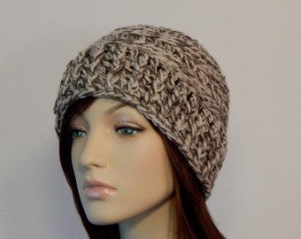 Crochet PATTERN PDF, The Harper Hat, Winter Hats, Ladies Crochet Hat Pattern, Ski Hat Crochet Pattern, MarlowsGiftCottage, Womens Crochet