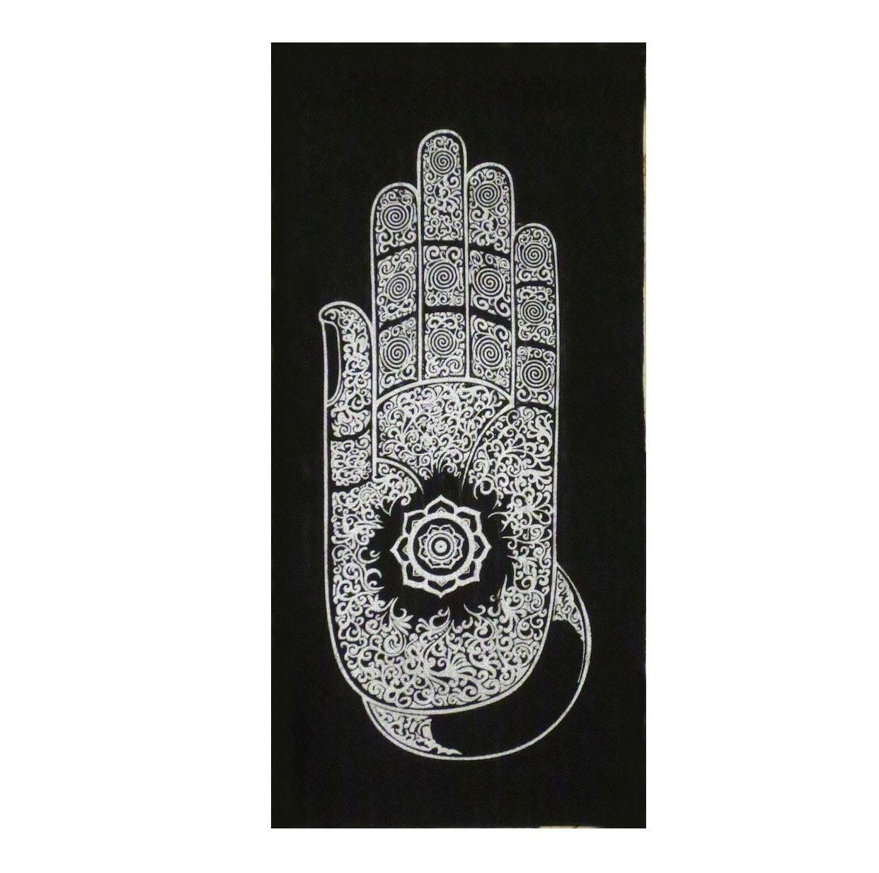 Small wall hanging batik tapestry buddha abhaya mudra hand zoom biocorpaavc Choice Image