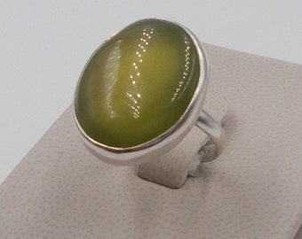 Sterling Silver Jade Ring