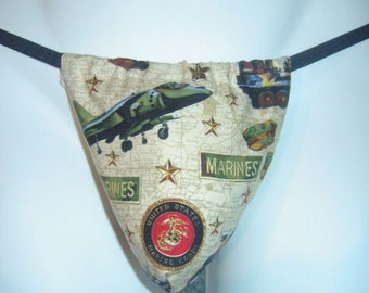 New Men's US United States MARINES Gift Gstring Thong Male Lingerie Underwear