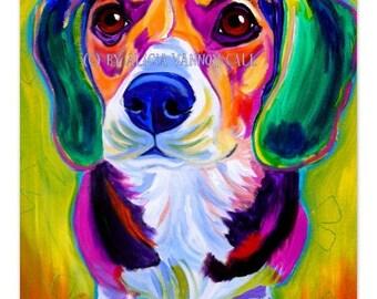 Beagle, Pet Portrait, DawgArt, Dog Art, Dog Painting, Beagle Art, Pet portrait artist, colorful pet portrait, pet portrait painting