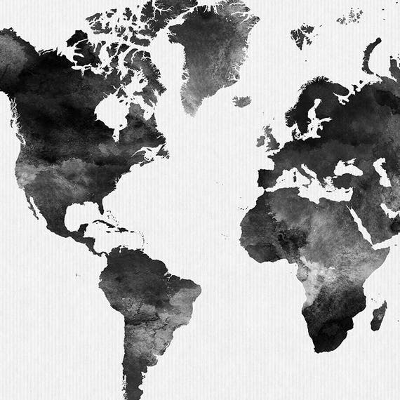 World map watercolor print travel map large world map world map watercolor print travel map large world map minimalist world map black white watercolor poster home decor artprintsvicky gumiabroncs Images