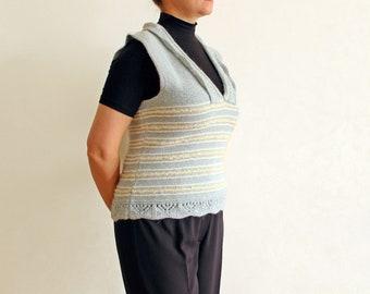 Women fashion Knit sweater vest Knitted waistcoat knit clothes Women knitted clothes Ladies waistcoat knit Ladies knit fashion #SvB
