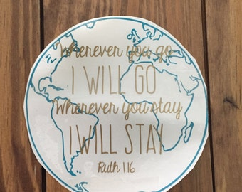 Ruth 1:12 Decal