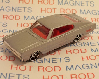 Hot Rod Magnet - 1967 Dodge Charger : Hot Rod, Man Cave, Refrigerator, Tool Box, Stocking Stuffer, Magnet