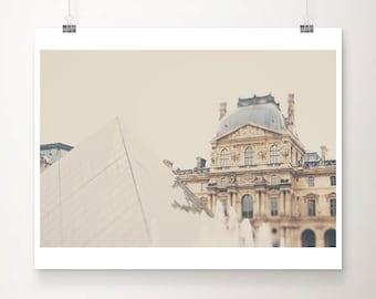 Paris photograph Louvre photograph Paris decor Paris print Louvre print Paris pyramid photograph travel photography