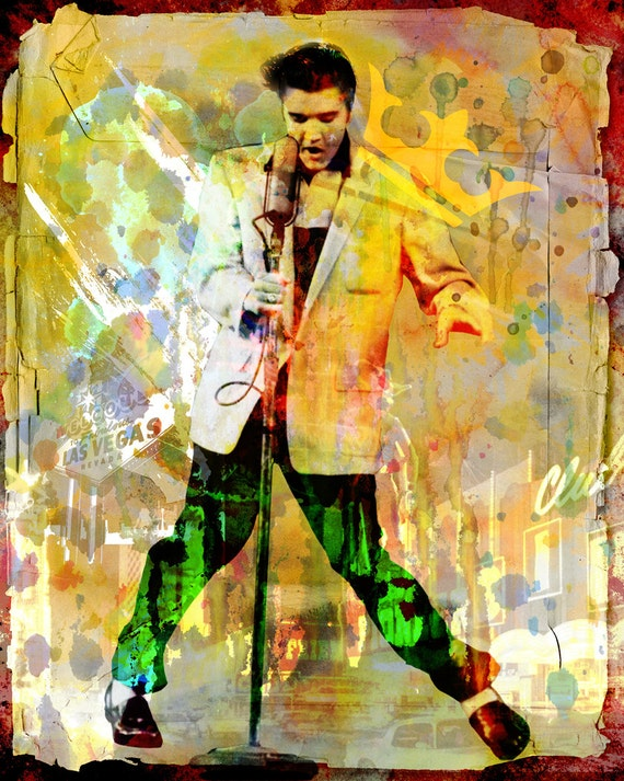 Elvis Presley Art Elvis Original Painting Art Print