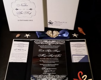 Pearl Brooch Luxe Invitation Package