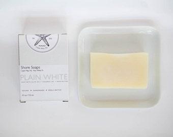 PLAIN WHITE SOAP // Baby Soap // Vegan Cold Process // Organic Shea Butter // Babies Infants // Sensitive Skin //  // Gifts Under 10