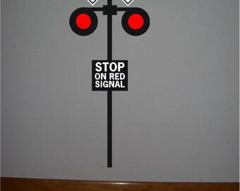 1 Railroad crossing signal vinyl sign..Railroad signal crossing sign