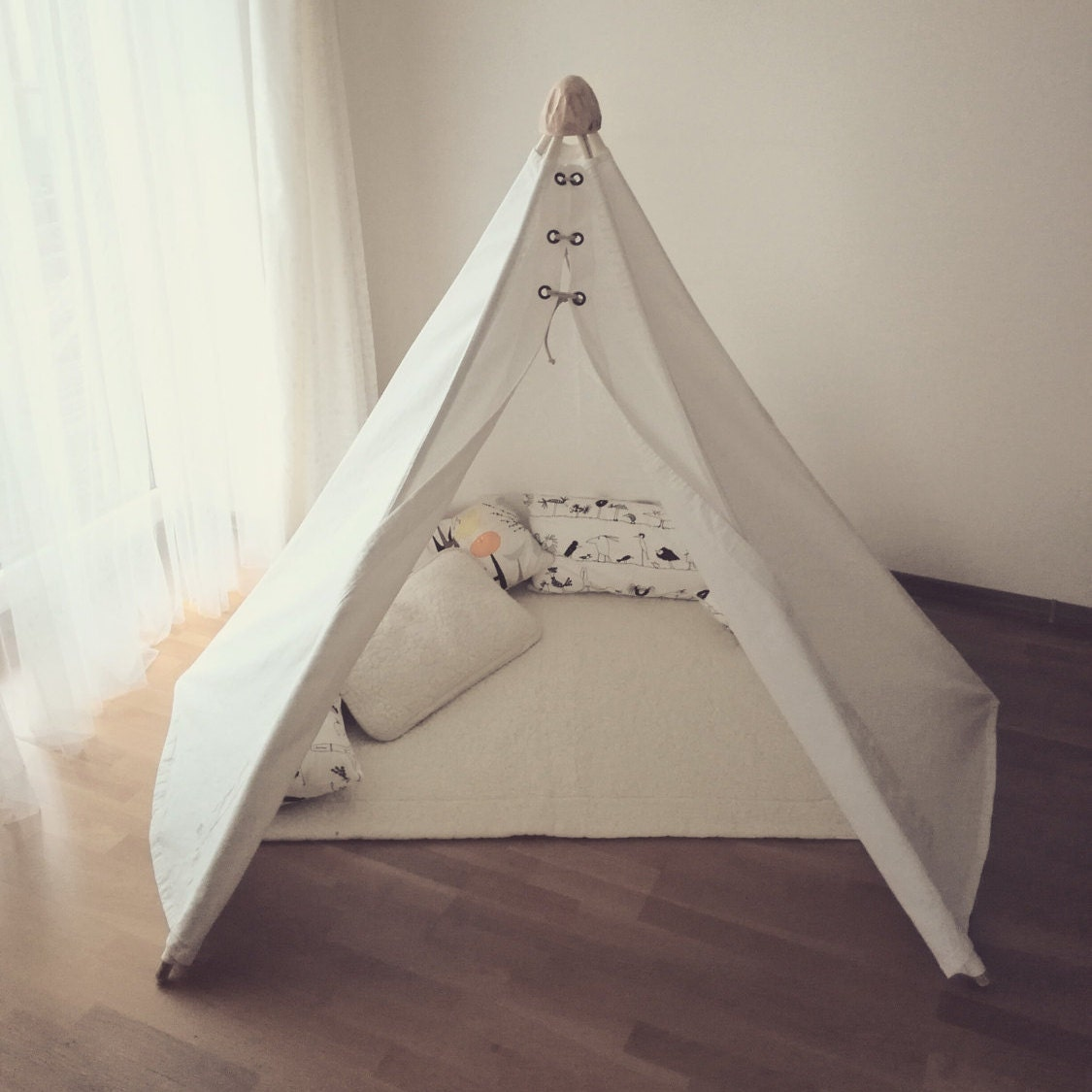 Leinen Tipi-Kinder Tipi Zelt-Spiel Zelte-Tipis-Kinder