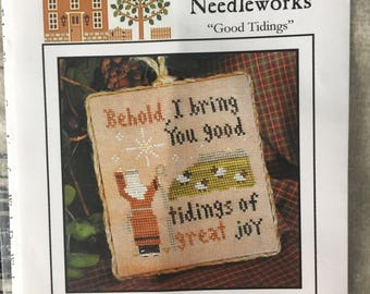 """Little House Needleworks **Good Tidings** Cross Stitch Chart  """"Ornament of the Month 2011 No. 12""""  LHNPC-42"""