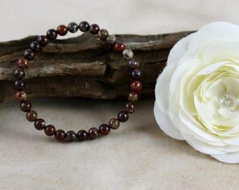 Poppy Jasper Gemstone Bracelet
