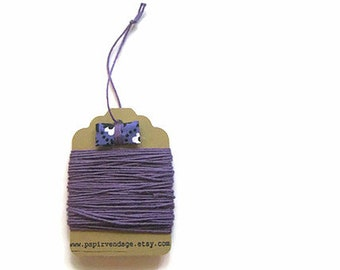 Eggplant Purple Bakers Twine, Solid  Bakers Twine, 10yds, Fall Colors, Solid Bakers Twine , Halloween Bakers Twine, Purple Bakers Twine