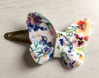 Liberty London Floral Butterfly Clip
