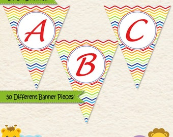 Music Birthday Banner • First Birthday • Toddler Birthday • Music Party • Alphabet Banner • Music Party Decorations • Printable • 014C2