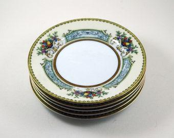 Noritake China Chine Blue Bread Plates, Noritake China, Rare China, Vintage Bread Plate