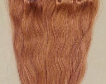 20inches 7pcs Clip In Human Hair Extensions 27 Strawberry Blonde