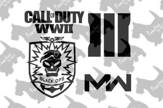 Download Call of Duty Cricut SVG cut files set of 4 Call of Duty