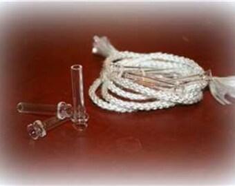 Glass wick tube w/fiberglass braided wick