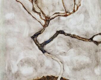 Egon Schiele: Small Tree in Late Autumn. Fine Art Print/Poster. (003724)