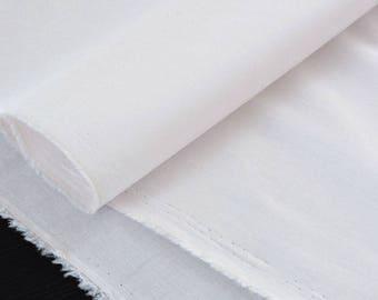 X50cm pink silky ecru cotton batiste fabric