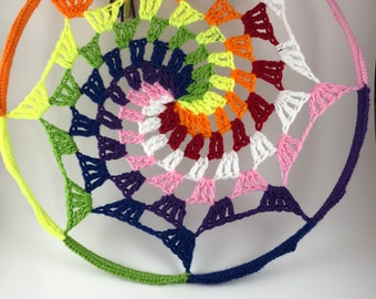 Spiral Rainbow DreamCatcher