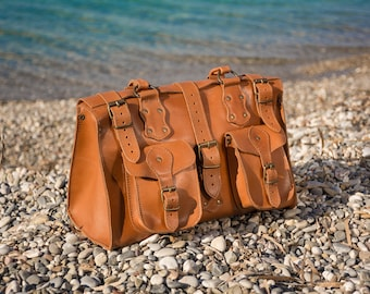 Cognac Crossbody leather handbag  Leather purses Leather crossbody Shoulder bag Leather purse
