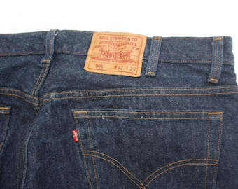 80s Vintage Levi's 501 shrink to fit jeans size 42x30 Made in USA excellent condition