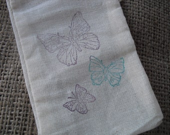 Favor Bags - SET OF 10 3x5 Triple Butterfly Favor Bags Gift Bags or Candy Bags -  Item 1266