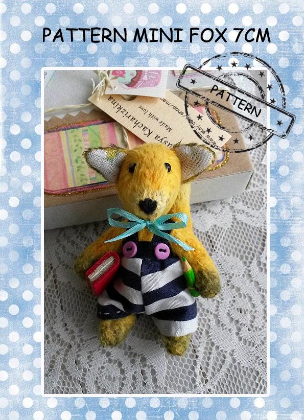 Muster-Mini-Spielzeug selbst Nähen Fuchs-Muster gefüllte